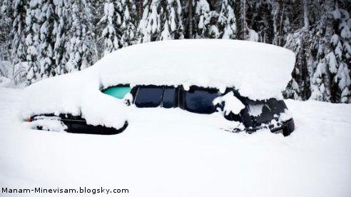 ۶۰ روز گیرکردن در برف