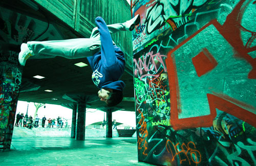 عکس های جدید و جالب ورزش پارکور - حرکات آکروبات