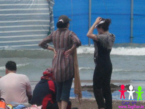 تصاویر بدحجابی کنار ساحل دریا