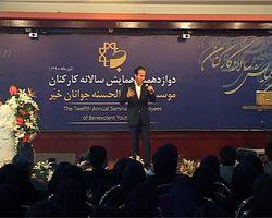 عکس جدید احمد پورمخبر در کنار هنرمند تقلید صدا حسن ریوندی
