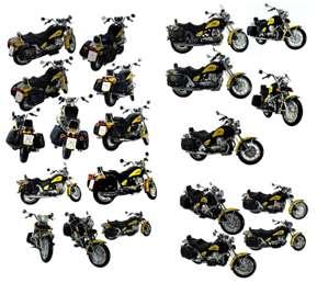 متریال موتور سیکلت ها