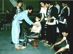 اولین دوره دوره مسابقات رسمی ورزشهای رزمی و تیم منتخب استان اردبیل کوچ آقای بایرام شاکر توسط استاد مهدی چالیک سال 1369