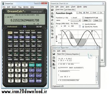 دانلود ماشین حساب حرفه ای مهندسی DreamCalc Professional 4.8.0