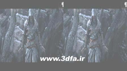 assassin creed 3d half sbs,سه بعدی آدمکش کارتون