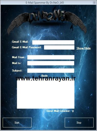 ایمیل بمبر قدرتمند E-Mail Spamer By Dr.NeO_145