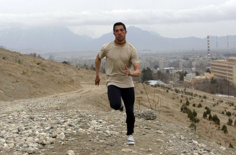 مسعود عزیز دونده المپیکی افغانستان