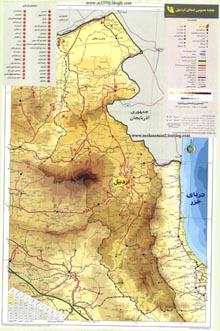 نقشه اردبیل
