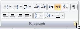 word - تنظیم انتهای خطوط در فهرست  - متا