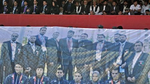 ورود کاروان المپیک افغانستان به کابل و استقبال مردم