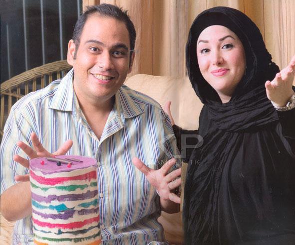 عکس جدید رضا داود نژاد و همسرش