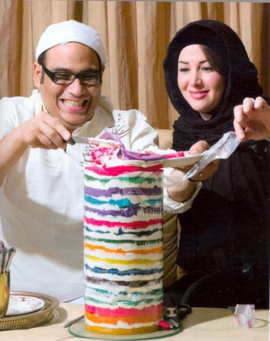 عکس شخصی رضا داود نژاد و همسرش