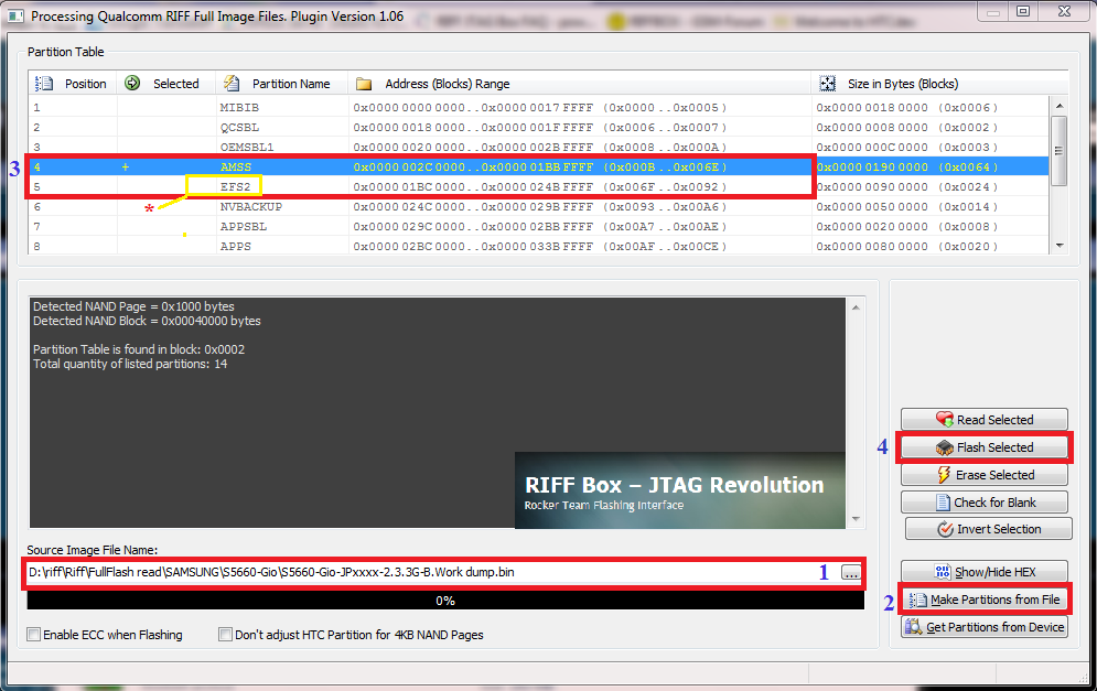 RIFF JTAG - How to repair Samsung baseband and IMEI (2) - GSM-Forum