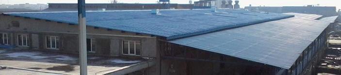 اجرای پوشش سقف سوله و ساختمان