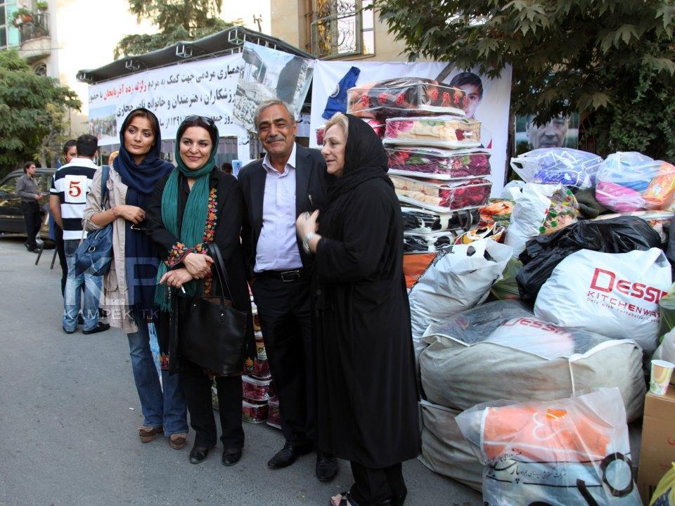 عکس جدید السا فیروز اذر در کنار همسر ناصر حجازی
