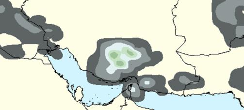 احتمال بارش های محلی در غرب هرمزگان طی هفته جاری+نقشه