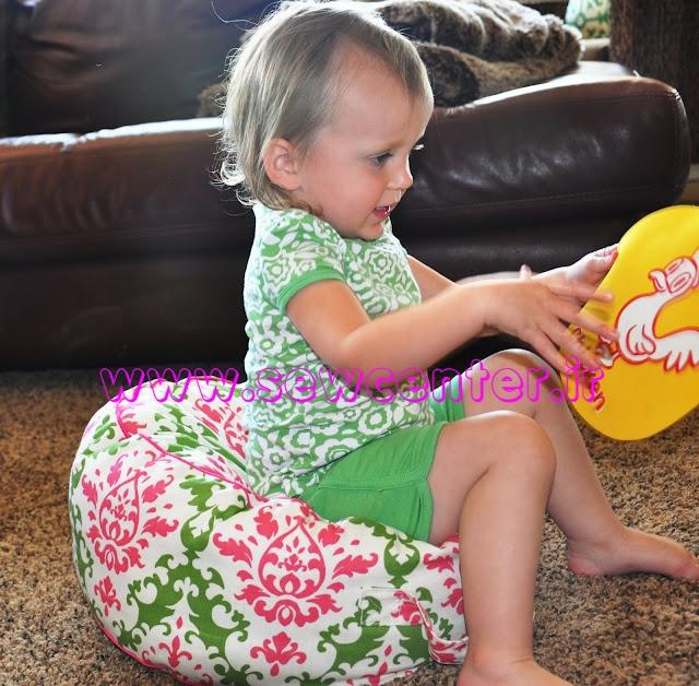 آموزش دوخت صندلی راحتی برای کودکان