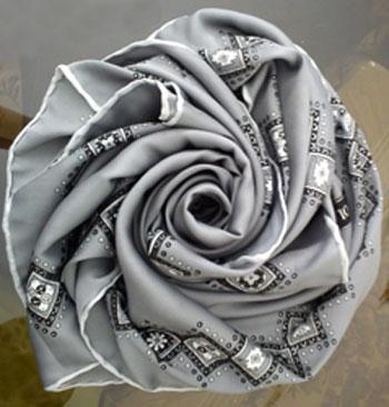 آموزش تزیین روسری عروس(گل رز)