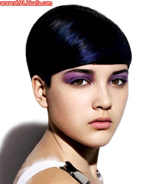 Image result for رنگ موی مشکی پر کلاغی