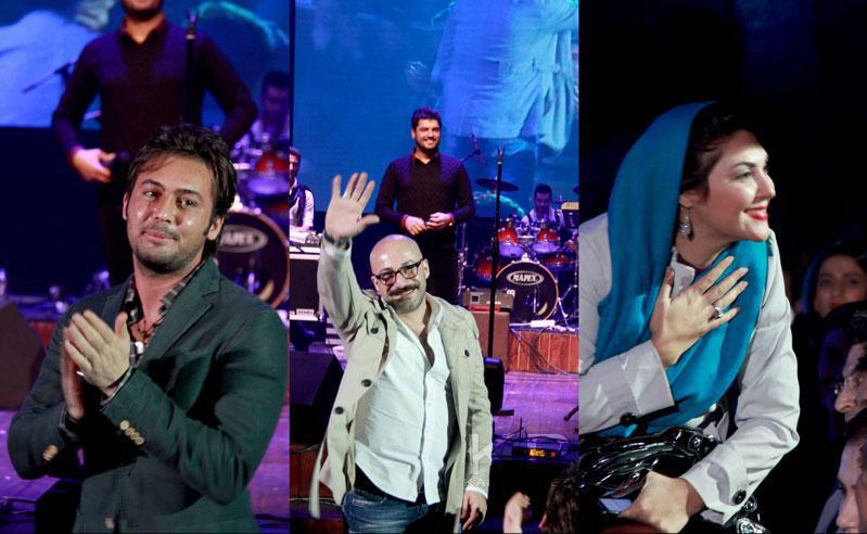 حضور بازیگران در کنسرت سهراب پاکزاد