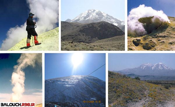 مجموعه تصاویر زیبا از کوه آتشفشان تفتان