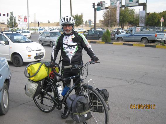 دوچرخه سوار ترکیه در ایران یزد