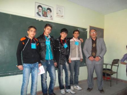 نمرات ضمن خدمت مدرسه راهنمایی آزادگان گلشهر