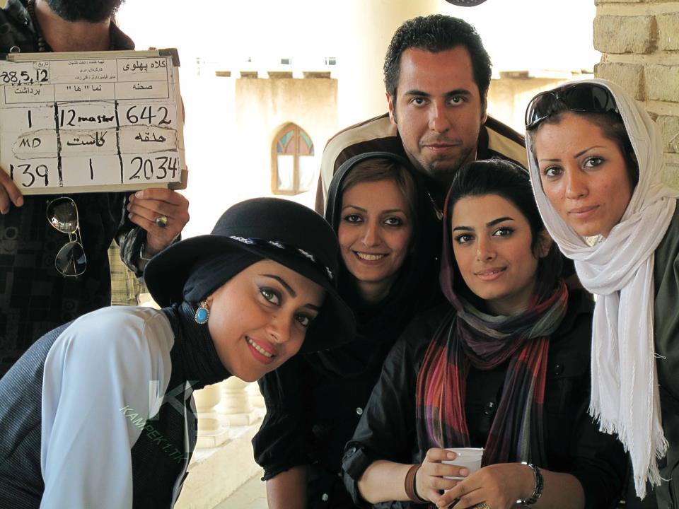 عکس جدید بهاره کیان افشار در پشت صحنه سریال کلاه پهلوی