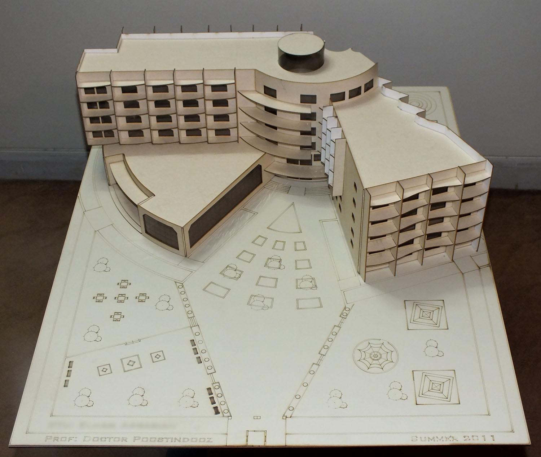 ماکت سازی با وسایل ساده کوبیک   معماری