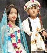 کودکان داماد و عروس
