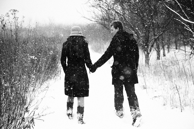 عکس دونفره تو برف