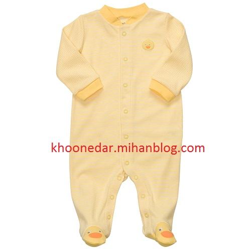 مدل جدید لباس نوزاد رنگ زرد