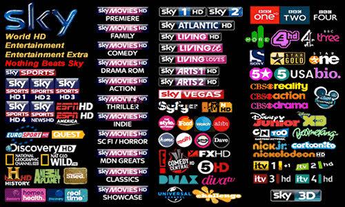 Sky TV Channels 500x300