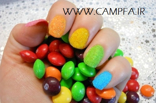 مدل ناخن با لاک مخملی جدید - www.campfa.ir