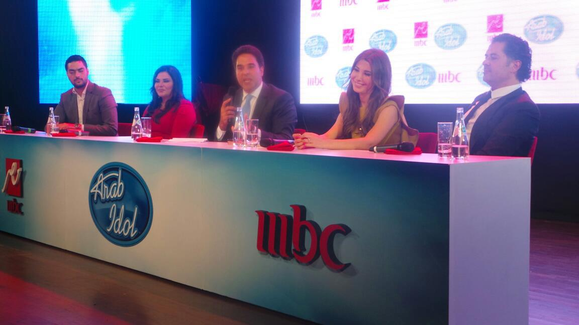 Nancy Ajram pictures from Arab Idol 2 Press Conference in Dubai