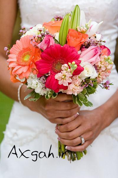 colourful wedding flower bouquet جدید ترین دسته گل های عروس 2013