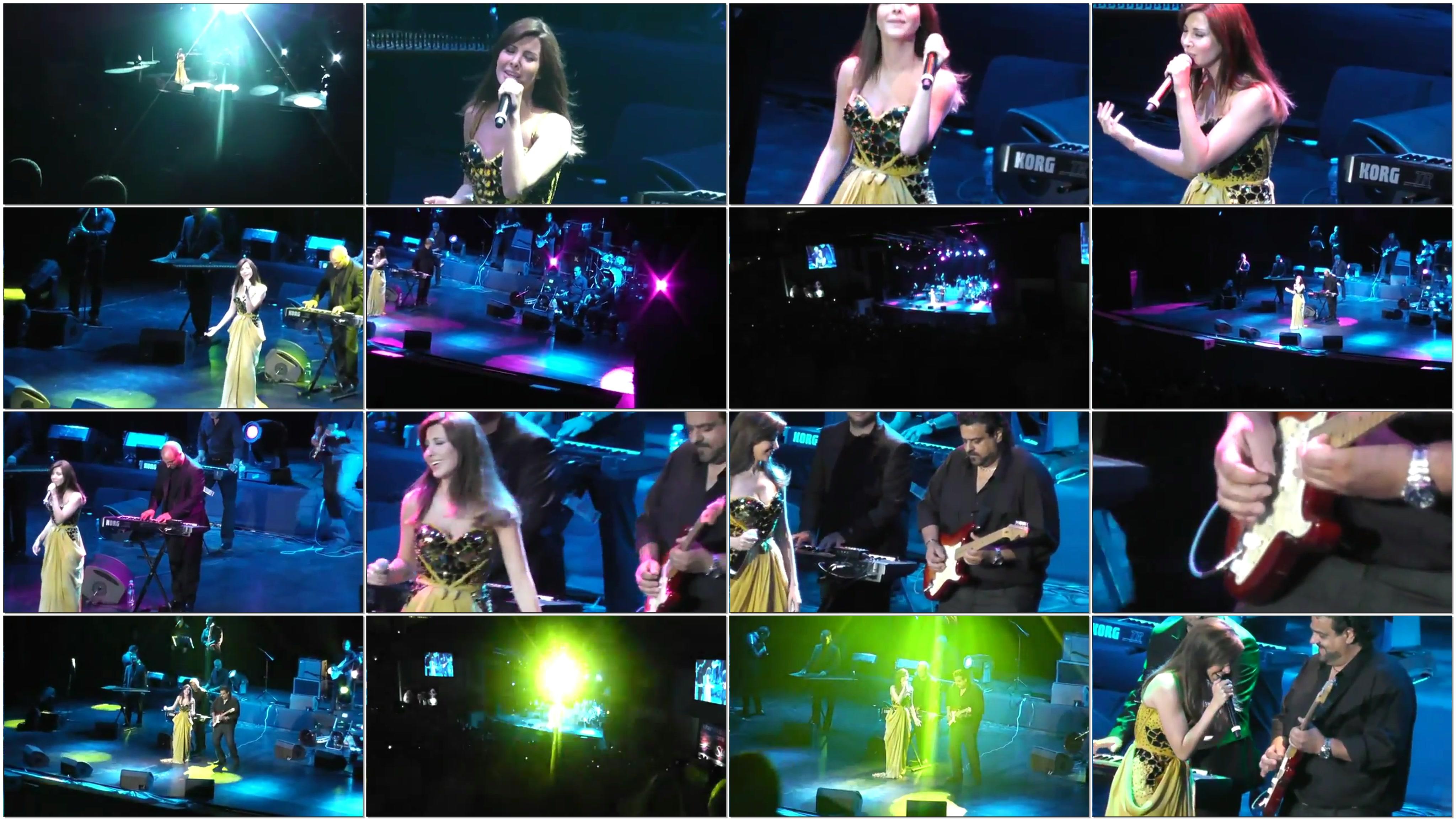 دانلود 4 ویدیو اجرا نانسی عجرم در کنسرت ترکیه استامبول 2012
