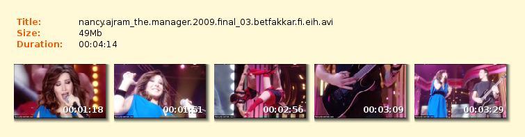 دانلود ویدیو اجرا های نانسی عجرم در The Manager 2009 Final