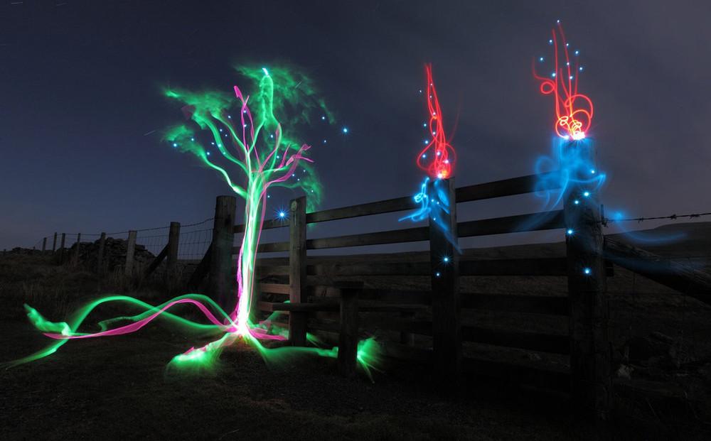هنرنمایی با نور