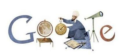 لوگو گوگل برای عرب ها به مناسبت زادروز دانشمند ایرانی
