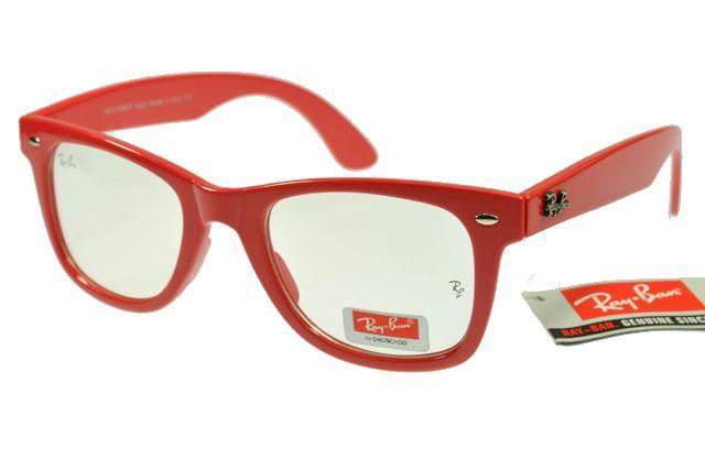 عینک ریبن ویفری شفاف فریم قرمز