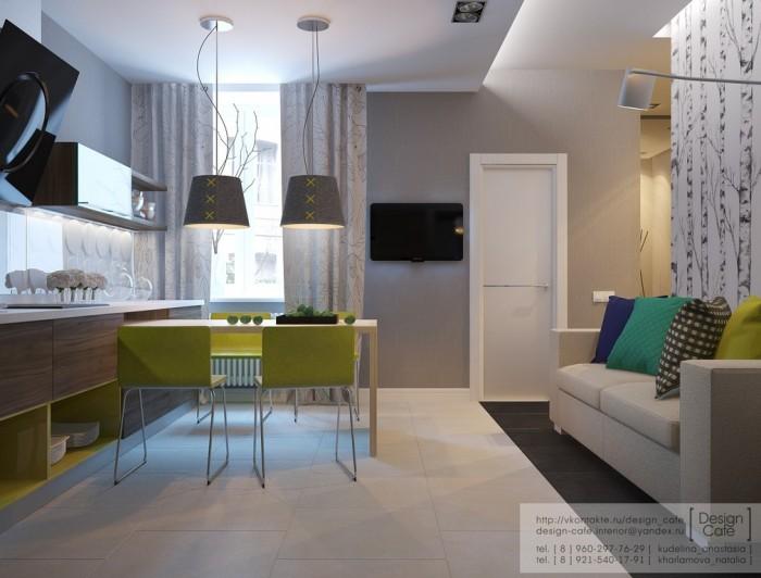 طراحی آپارتمانی برای یک خانواده ی جوان
