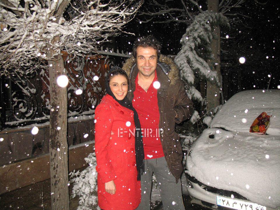 عکس جدید سروین رفیعیان و همسرش رضا پاپی