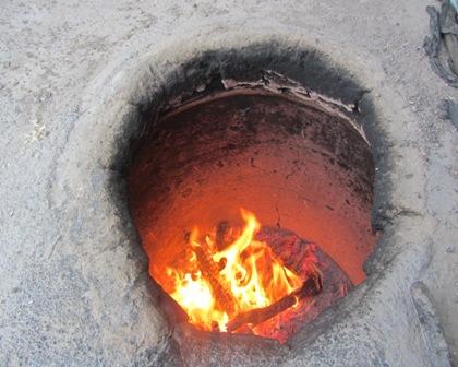 شعله های فرو کش کرده تنور