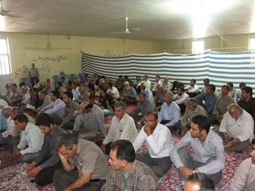 برگزاری مراسم ختم آقا سید مجتبی موسوی لاری در جویم