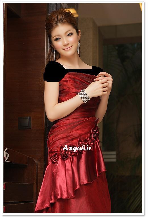 wholesale dress 3211red1 مدل های لباس شب دخترانه