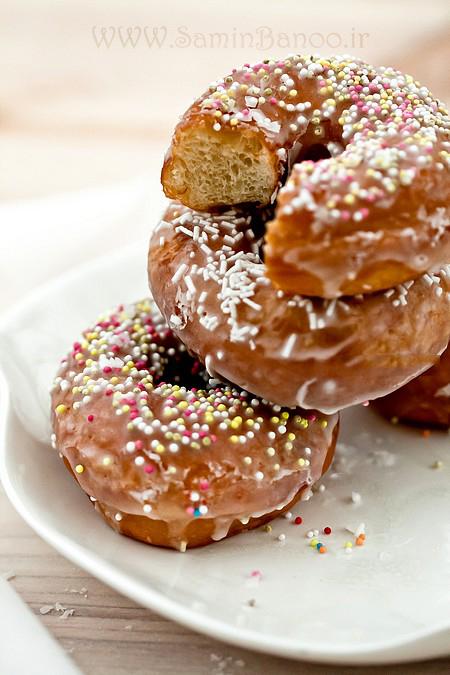 دونات  آشپزی  دستور تهیه طرز تهیه شیرینی مورد علاقه کودکان  آموزشی American donuts - donuts with a hole donuts Donuts - Американский пончик