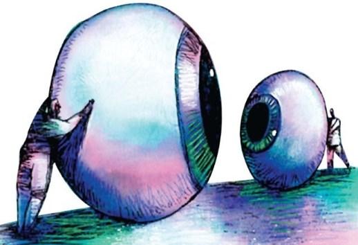see eye to eye - چشم در چشم - نگاه کردن به هم - با نگاه قورت دادن