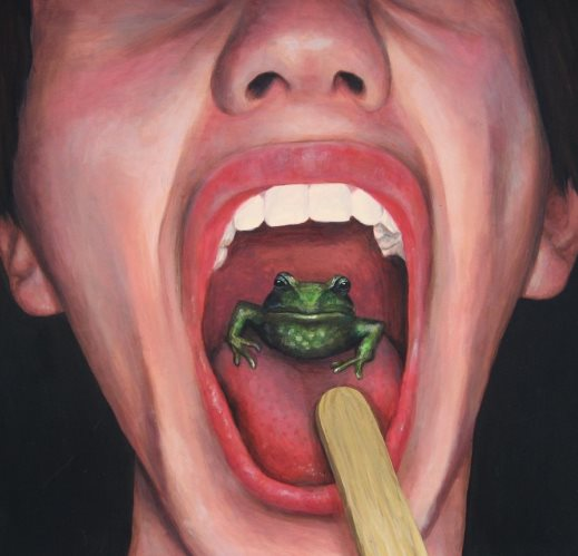have a frog in throat - قورباغه در دهان