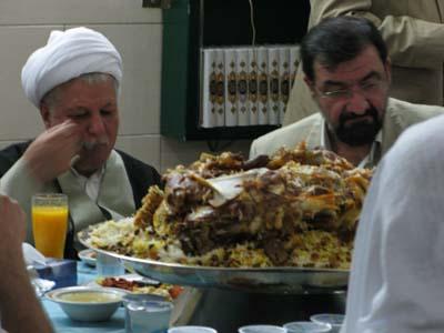 رفسنجانی و محسن رضایی در ضیافت شام