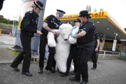 Police arrested bear - دستگیری خرس پلیس